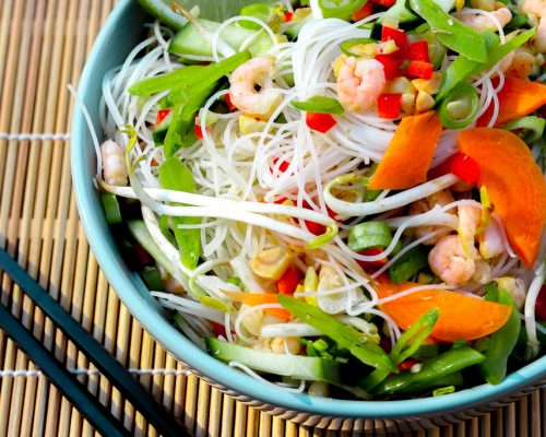 Glasnudeln als Salat – kleiner Aufwand bei hohen Temperaturen und der Herd bleibt kalt!